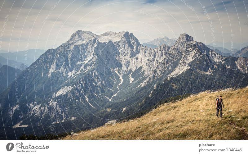 Human being Nature Vacation & Travel Landscape Mountain Feminine Leisure and hobbies Tourism Hiking Trip Adventure Peak Austria Gesäuse National Park