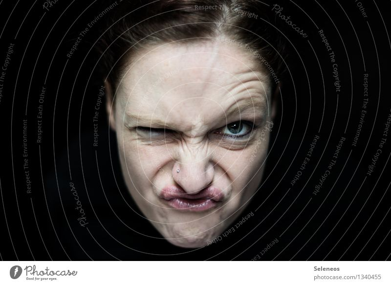 Woman Human being Face Adults Eyes Emotions Feminine Mouth Nose Anger Brash Frustration Piercing Rebellious Aggravation Grouchy