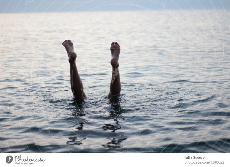 Human being Blue Summer Water Ocean Black Adults Legs Swimming & Bathing Feet Masculine Dive 30 - 45 years Go crazy