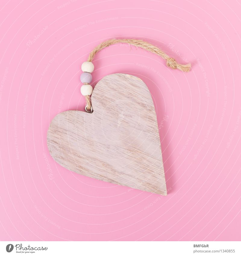 Beautiful Girl Love Wood Happy Feasts & Celebrations Pink Design Leisure and hobbies Decoration Happiness Heart Joie de vivre (Vitality) Sign Wedding Kitsch