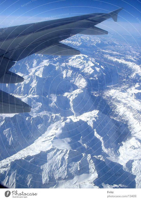 mountains from above Mountain Aviation Alps Snow