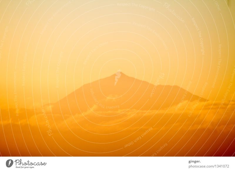 Mountain in the light Environment Nature Landscape Elements Air Sky Clouds Sun Sunrise Sunset Sunlight Spring Climate Beautiful weather Pico del Teide Peak