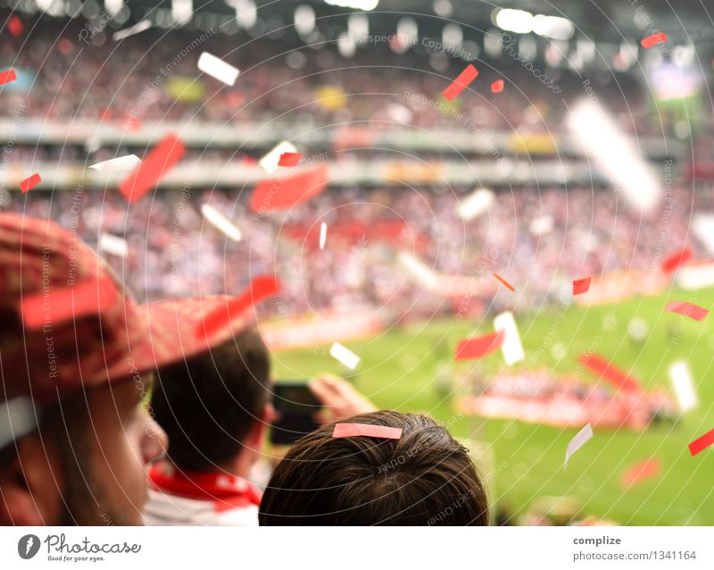 Fans in the stadium Lifestyle Joy Leisure and hobbies Feasts & Celebrations Sports Track and Field Sportsperson Sports team Audience Hooligan Stands
