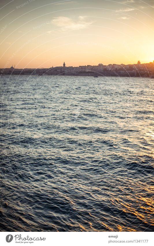 Sky Nature City Blue Summer Ocean Environment Natural Coast Waves Beautiful weather Skyline Capital city Istanbul