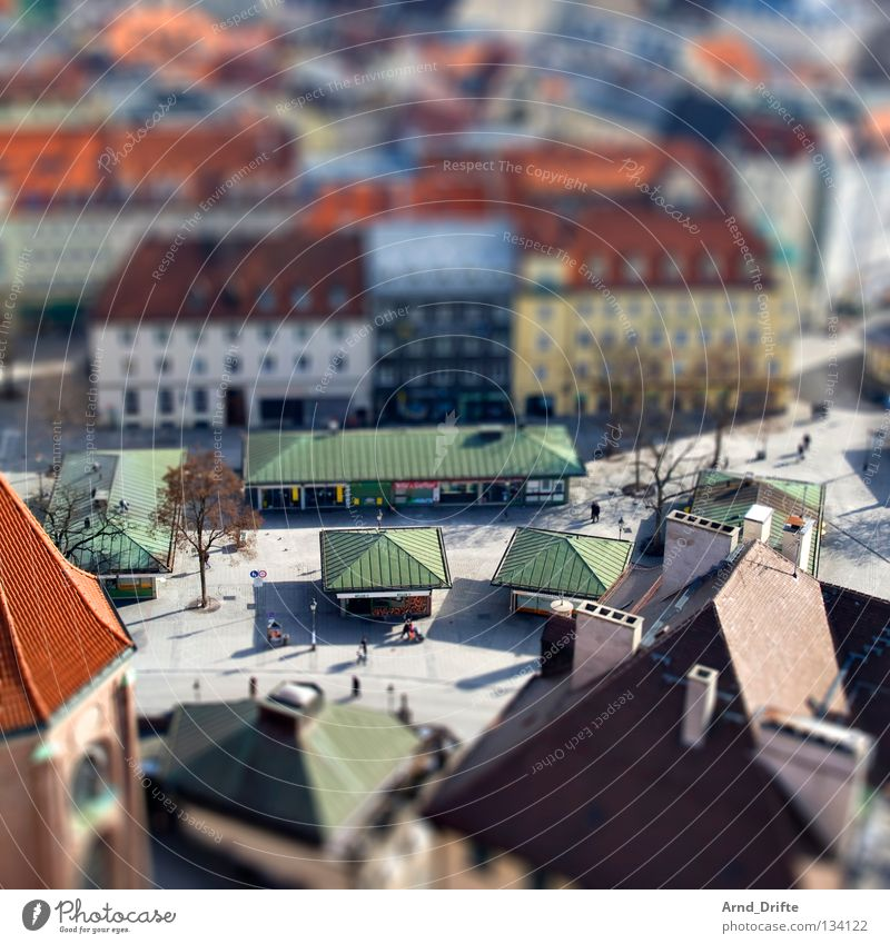 City House (Residential Structure) Small Bird's-eye view Roof Munich Monument Traffic infrastructure Bavaria Landmark Surrealism Miniature Tilt-Shift
