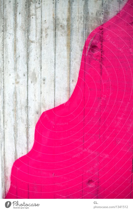 PINk Wall (barrier) Wall (building) Paints and varnish Graffiti Pink Colour Inspiration Creativity Undulating Painting (action, artwork) Colour photo