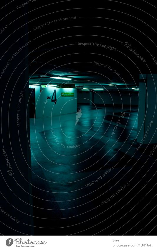 Blue Calm Dark Architecture 4 Deep Garage