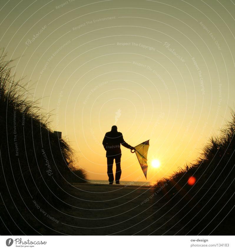 Human being Sky Man Water Sun Ocean Summer Beach Joy Black Landscape Dark Autumn Playing Grass Coast