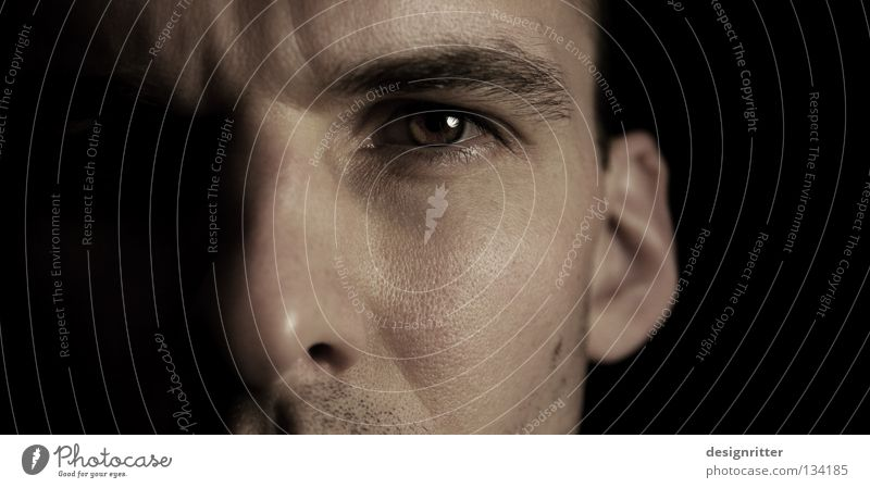 Man Face Dark Eyes Together Power Observe Search Discover Brave Snapshot Difference Orientation Appearance Awareness Accumulate