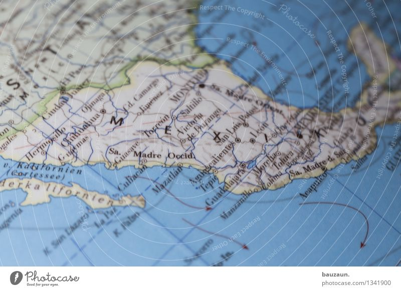 mexico. Vacation & Travel Tourism Adventure Far-off places Summer vacation Sun Mexico Americas Characters Line Arrow Globe Politics and state Colour photo