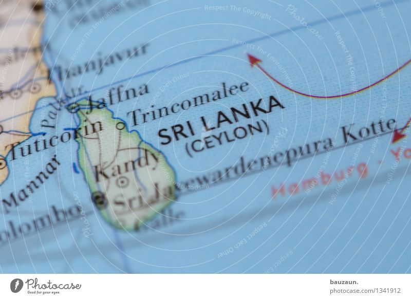 sri lanka. Vacation & Travel Tourism Far-off places Summer Beach Ocean Island Sri Lanka Asia Line Arrow Globe Politics and state Colour photo Close-up Detail