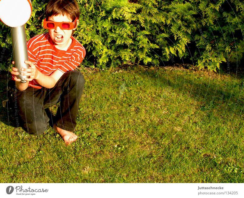 Child Green Red Playing Boy (child) Garden Power Force Eyeglasses Toys Blow Craft (trade) Stupid Sunglasses Hammer Kneel