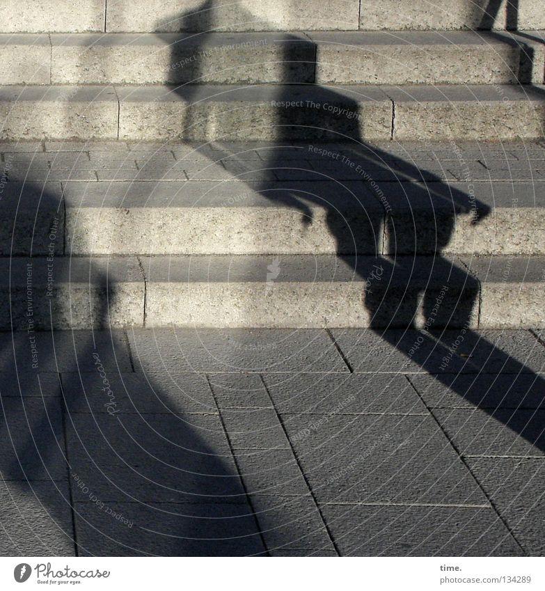 2 Concrete Crazy Stairs Communicate Obscure Sidewalk Traffic infrastructure Diagonal Bizarre Handrail Paving tiles Nosferatu