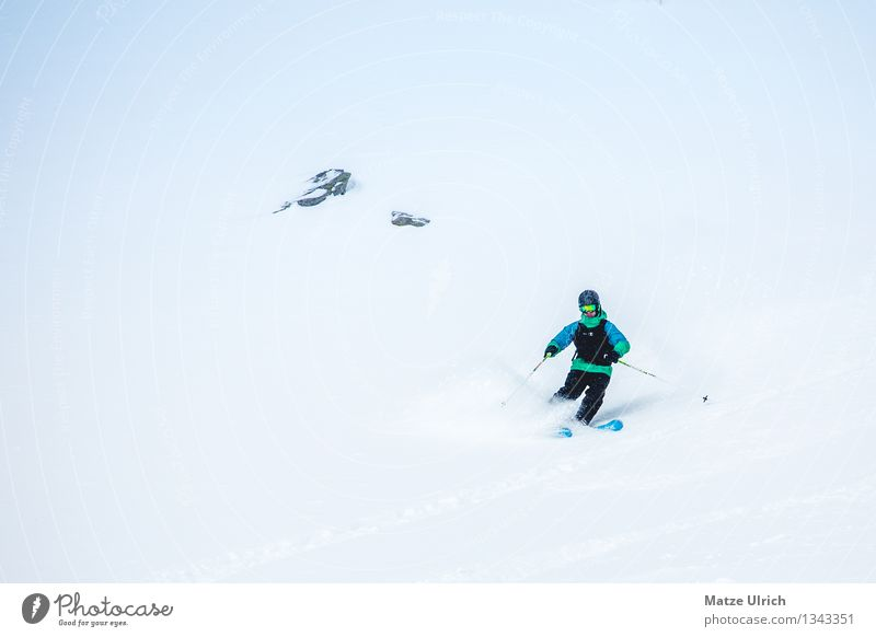 powderturns Winter Snow Winter vacation Sports Winter sports Sportsperson Skis Free skiing Freeride Ski Human being Masculine 1 Fog Ice Frost Alps Mountain