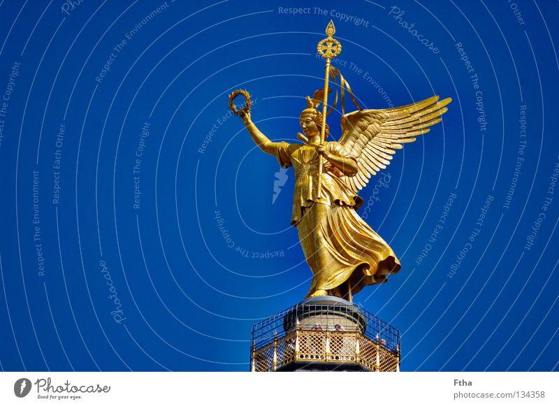 Berlin Gold Success Monument Landmark Column Sculpture Capital city Bronze Goldelse victory statue Berlin zoo Victory column Bronze sculpture