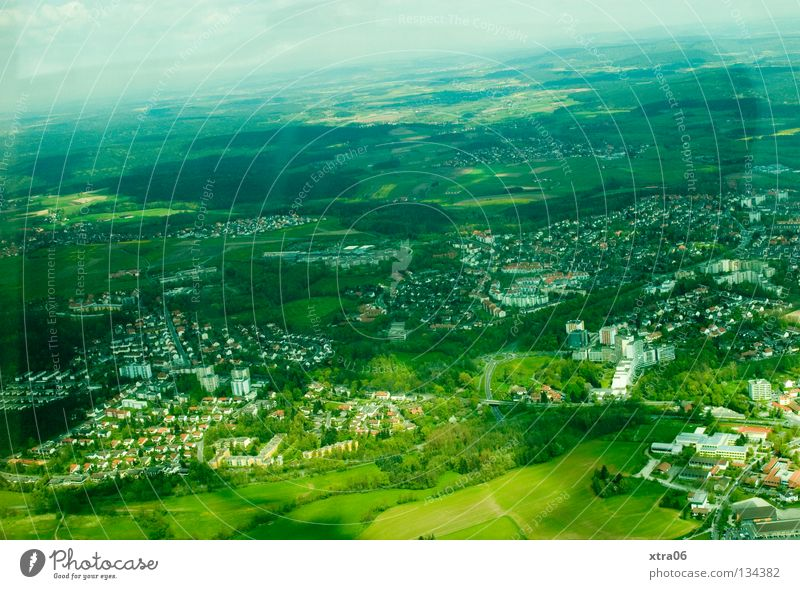 Sky City House (Residential Structure) Freedom Landscape Germany Village Aerial photograph