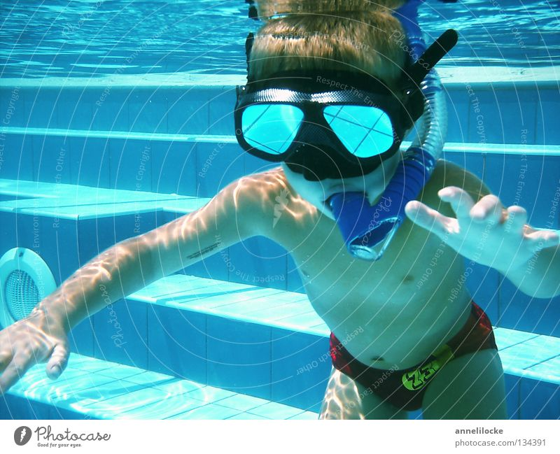 Human being Child Water Blue Summer Joy Vacation & Travel Boy (child) Playing Waves Skin Masculine Wet Crazy Stairs