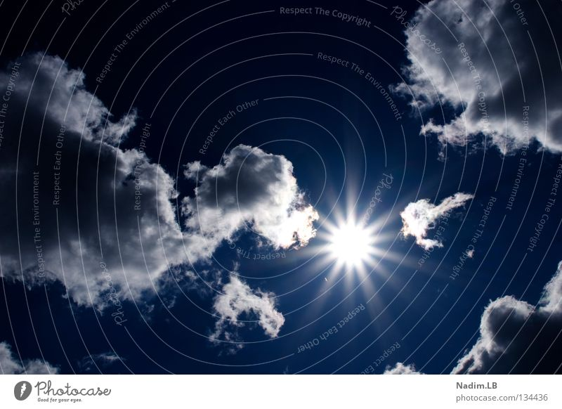 Lets the sun shining Clouds Summer Sun Blue Dramatically Sky