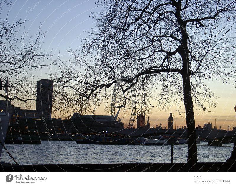 Dusk in London Big Ben Twilight Europe Thamse Evening