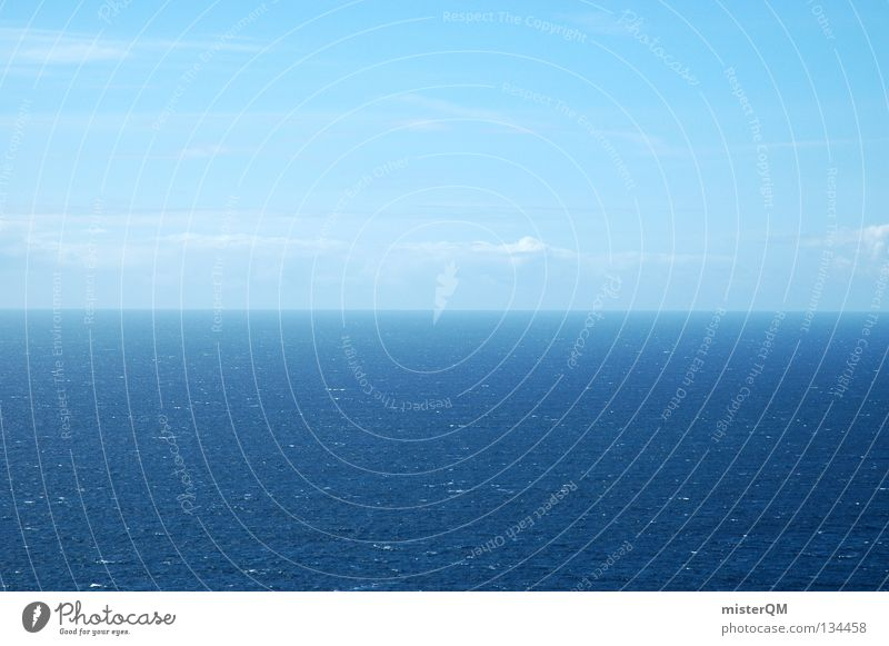 Water Sky Ocean Blue Calm Far-off places Think Earth Waves Fear Going Background picture Horizon Future End