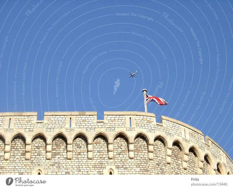 Home of the Queen. Windsor Union Jack Europe Castle queen Sky