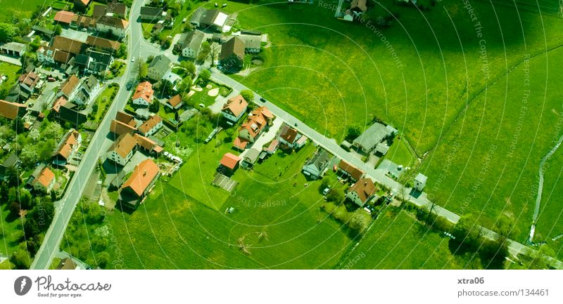 Sky House (Residential Structure) Aerial photograph Landscape Freedom Germany Village