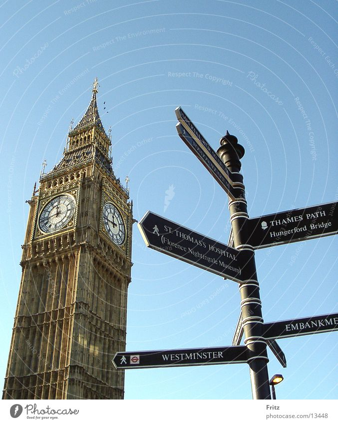 Europe London Landmark England Road marking Sightseeing City trip Big Ben