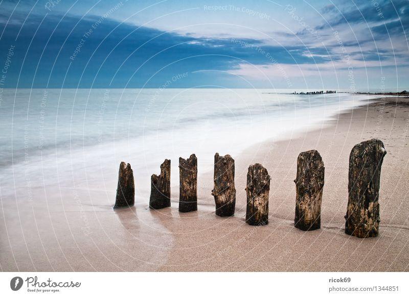 Nature Vacation & Travel Old Blue Water Ocean Landscape Calm Clouds Beach Coast Tourism Idyll Romance Baltic Sea Mecklenburg-Western Pomerania