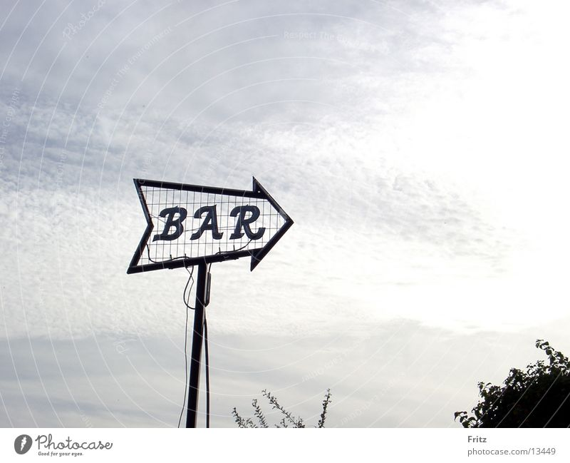 Sky Signs and labeling Signage Bar Alcoholic drinks