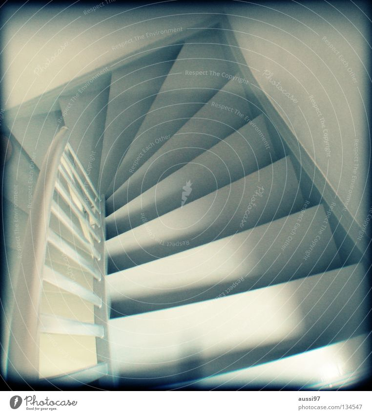 House (Residential Structure) Going Stairs Living or residing Concentrate Under Analog Upward Banister Hallway Downward Grid Household Direction Viewfinder Hazy
