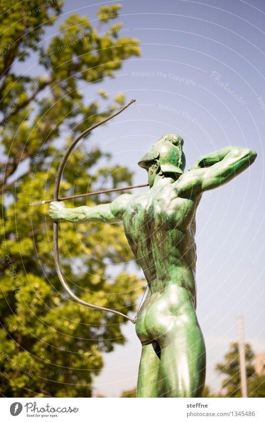 Star sign: Sagittarius Sculpture Future Signs of the Zodiac Archer December Shoot Eros Love Colour photo Exterior shot Copy Space top