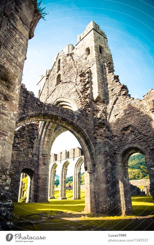 Llanthony Priory Vacation & Travel Tourism Trip Adventure Far-off places Freedom Expedition Summer Summer vacation Environment Nature Landscape Sunlight