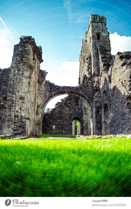 Wales is full of secrets Vacation & Travel Tourism Trip Far-off places Freedom Sky Summer Beautiful weather Grass Garden Park Meadow Llanthony Priory Church