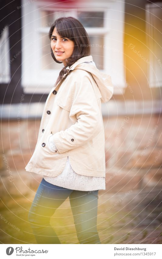 autumn walk Feminine Young woman Youth (Young adults) Life 1 Human being 18 - 30 years Adults Spring Autumn Happy Happiness Contentment Sympathy Serene Interest