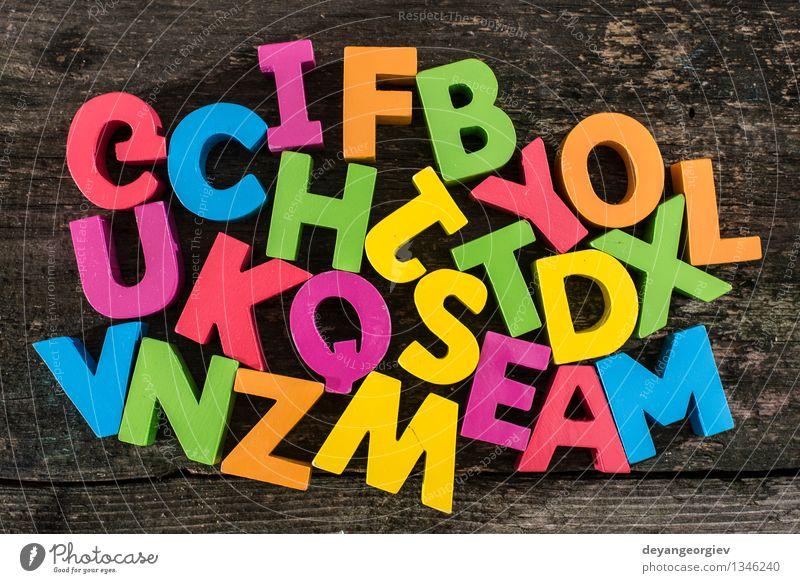Wooden letters Old Colour Design Paper Symbols and metaphors Toys Word Typography Collection Text Mix Preschool Cast iron