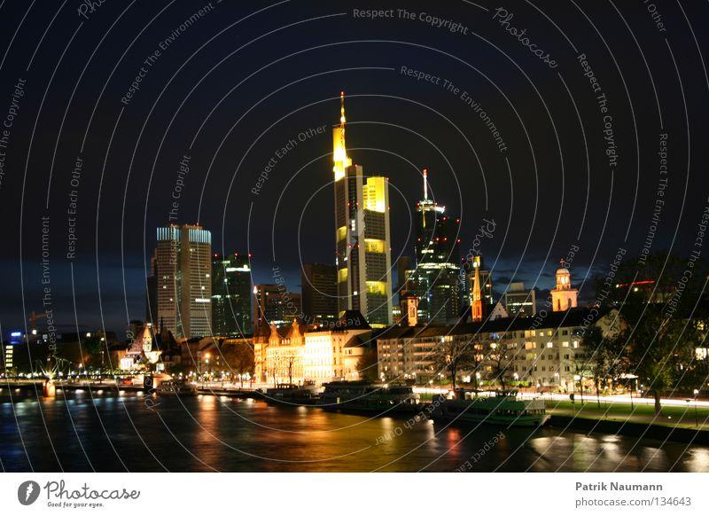 Water City Street Lighting Metal High-rise Skyline Frankfurt Main