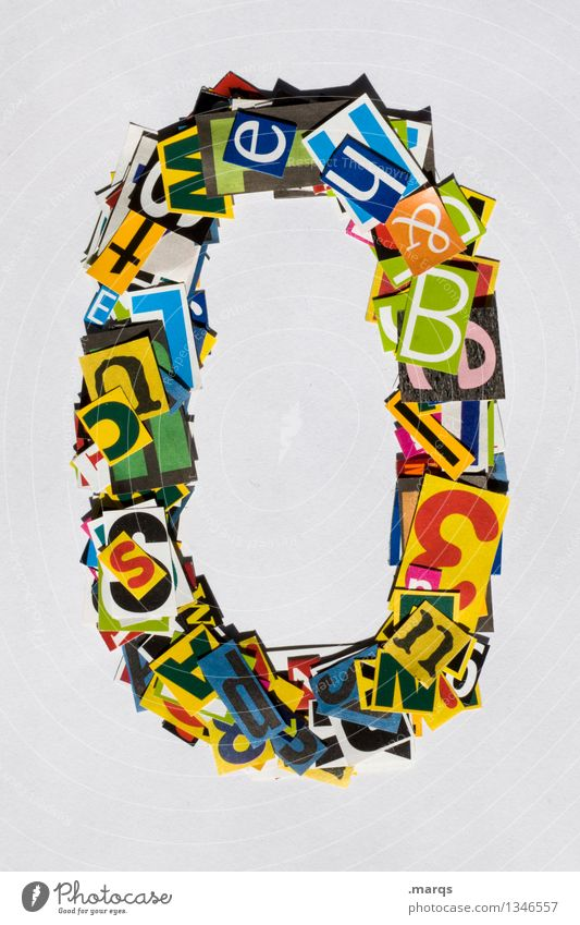 0 Style Design Digits and numbers Multicoloured Snippets Birthday Jubilee Colour photo Studio shot Isolated Image Neutral Background