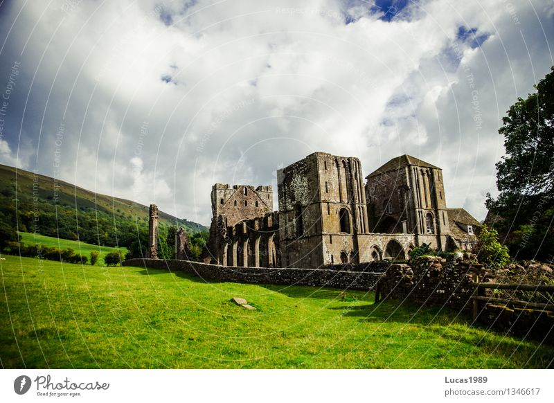 monasteries Environment Nature Landscape Clouds Beautiful weather Garden Park Meadow Llanthony Priory Wales Church Palace Castle Ruin Building Architecture