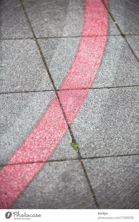 typical... Sidewalk Cycle path Stone Concrete Line Curve Esthetic Elegant Uniqueness Gray Red Design Accuracy Arrangement Divide Lanes & trails Sign Graphic