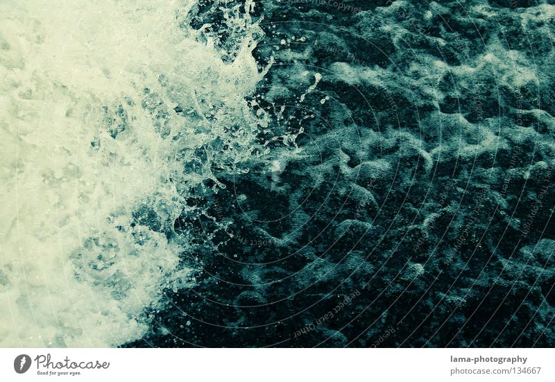 Water Blue Coast Line Waves Background picture Dangerous Threat River Image To fall Fluid Painting and drawing (object) Sudden fall Navigation Brook