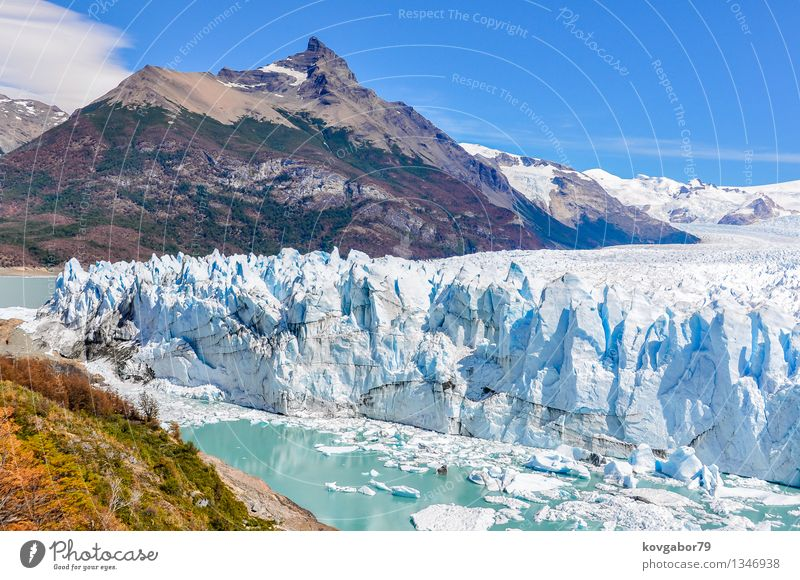 Side view of Perito Moreno Glacier, Argentina Nature Vacation & Travel White Landscape Mountain Environment Snow Lake Park Wild Tourism South Tourist Wilderness