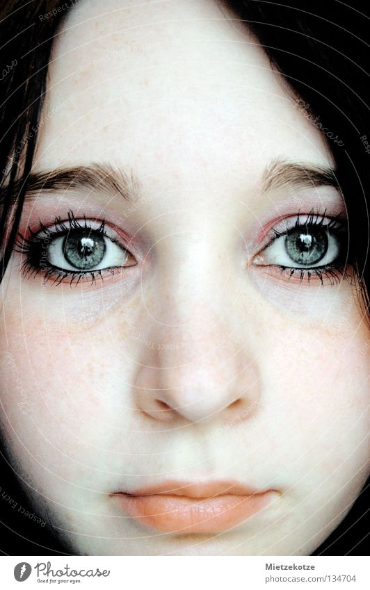 Window to the soul Portrait photograph Pallid Trust Eyelash Woman Eyes Face Soul Looking