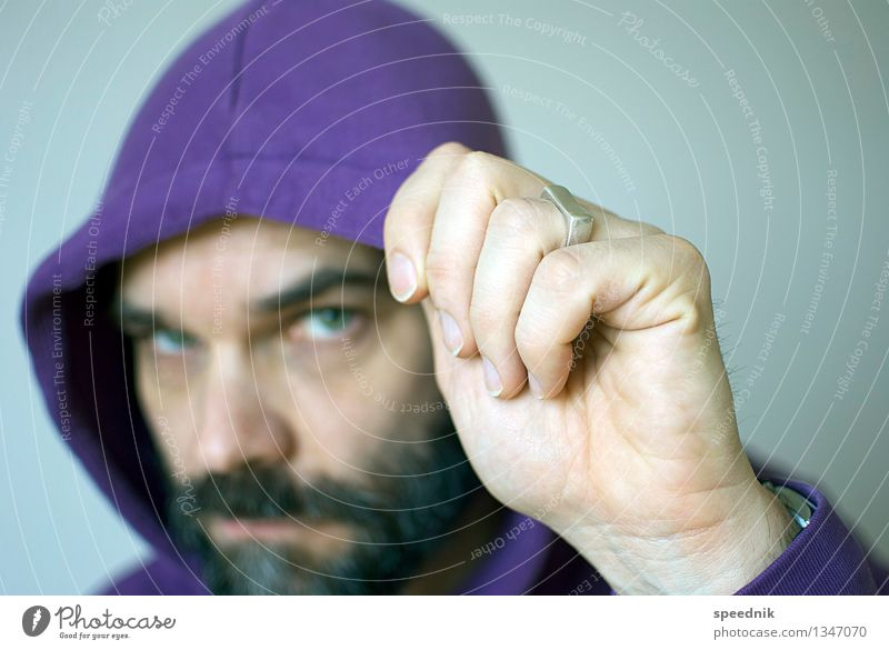 Human being Man Old Hand Loneliness Face Adults Senior citizen Moody Bright Masculine 45 - 60 years Observe Cool (slang) Violet Hip & trendy