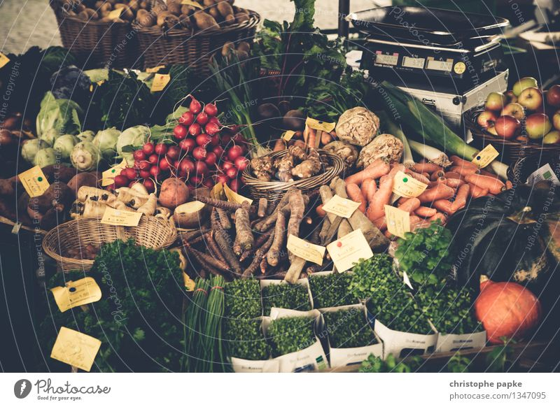 market day Food Vegetable Lettuce Salad Herbs and spices Nutrition Organic produce Vegetarian diet Shopping Healthy Thanksgiving Agriculture Forestry Trade