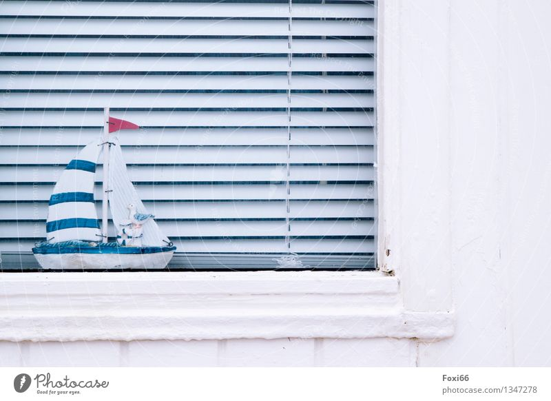 Time to dream Style Moving (to change residence) Arrange Decoration Venetian blinds Window decoration Work of art Architecture Culture Denmark Fishing village