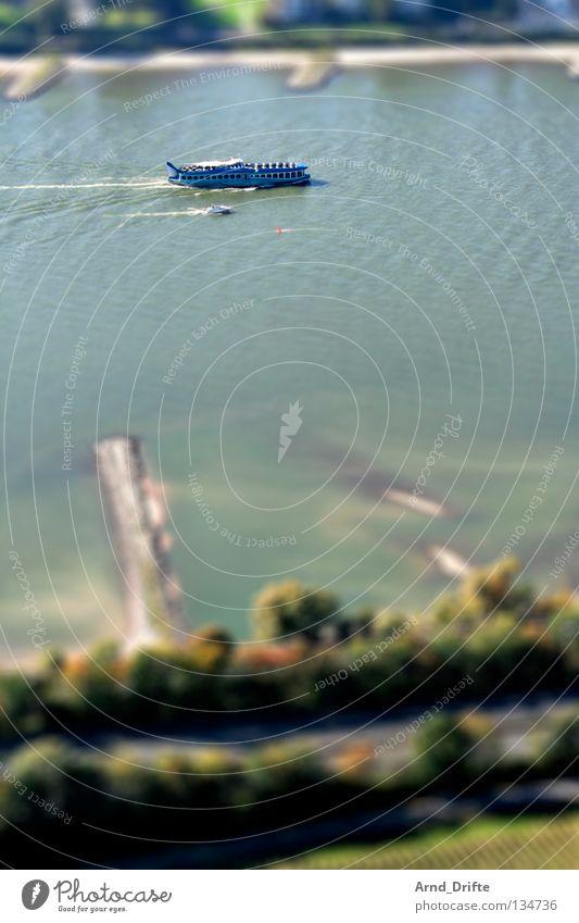 Water Small Bonn River Brook Surrealism Rhine Miniature Tilt-Shift Drachenfels