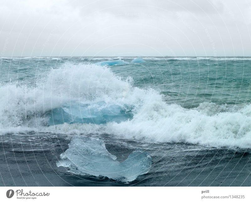 coastal iceberg scenery Ocean Waves Nature Water Clouds Coast Cold Clean Blue Iceberg Iceland Ice floe floating iceberg driving iceberg Frozen Natural Broken
