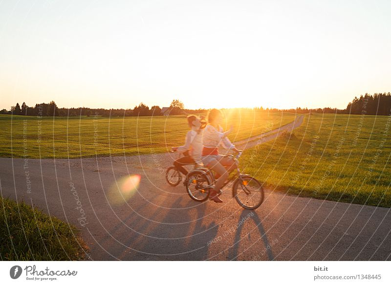 cycle towards... Leisure and hobbies Vacation & Travel Tourism Sports Cycling Human being Feminine Child Girl Young woman Youth (Young adults)