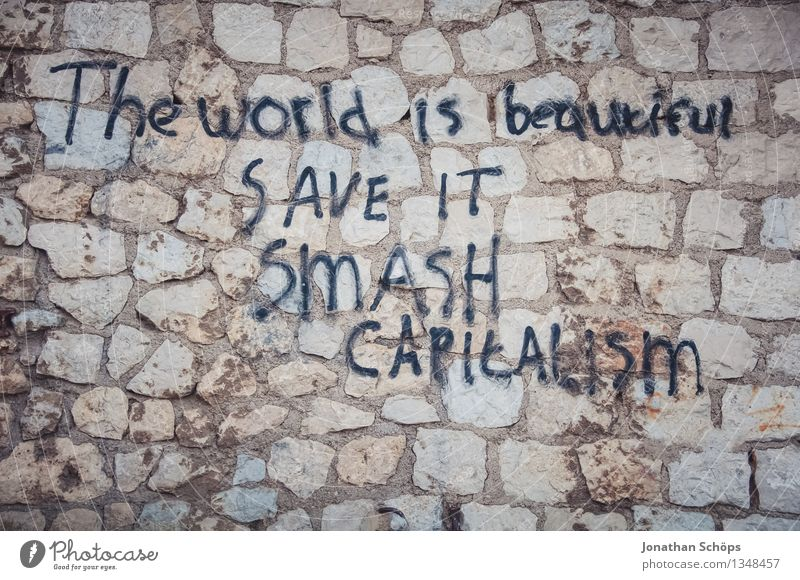 City Beautiful Black Wall (building) Graffiti Wall (barrier) Brown Dirty Characters France Sustainability South Aggression Against Environmental pollution