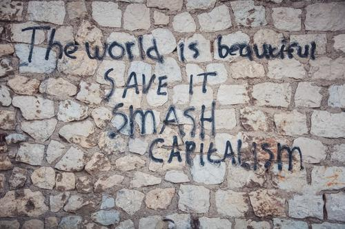 *** 900 *** The world is beautiful - SAVE IT Outskirts Wall (barrier) Wall (building) Aggression Criticism Graffiti Building stone Traces of fomer wall Dirty